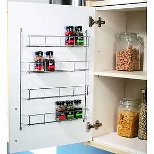 wickes chrome 4 tier spice rack 500mm wickescouk With best brand of paint for kitchen cabinets with holders for candles