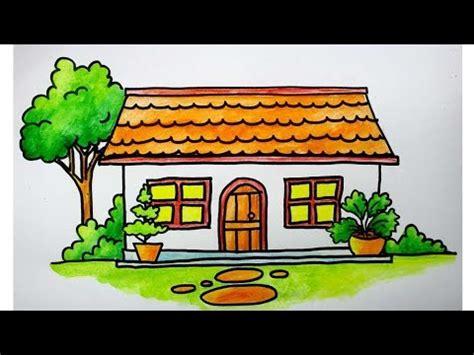 menggambar rumah  anak sd youtube