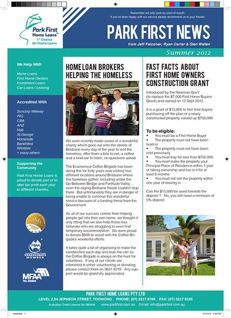 park first newsletter design on behance