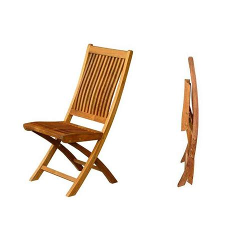 plan chaise de jardin en bois chaise pliante de jardin galbée bois teck massif 62cm