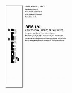 Bpm-150 Manuals