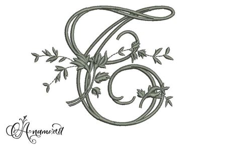 letter  fancy vinefloral embroidery letter embroidery designfile    anamored