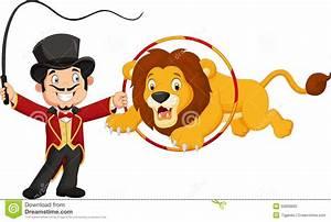Cartoon Lion Jumping Through Ring Stock Vector ...