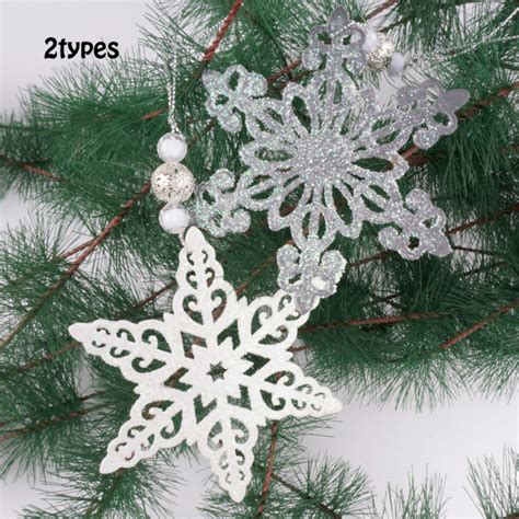 white christmas tree ornaments decorations christmas decoration christmas tree pendant white christmas snowflake hanging ornament 10cm with