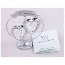 25 wedding anniversary gift ideas crystocraft keepsake gift ornament 25th silver wedding anniversary with swarvoski