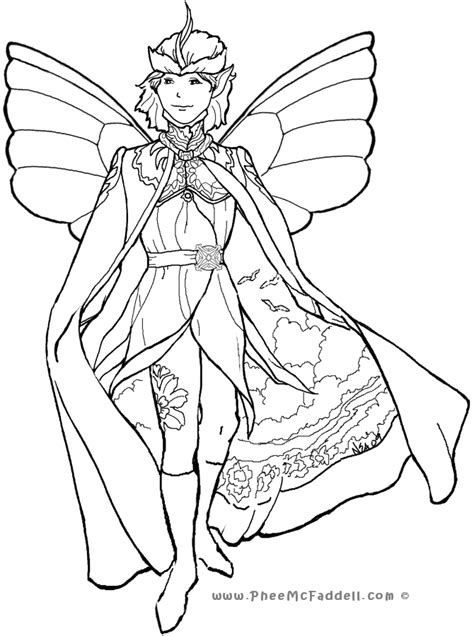Court Fairy 4pheemcfaddell com Fairy coloring pages