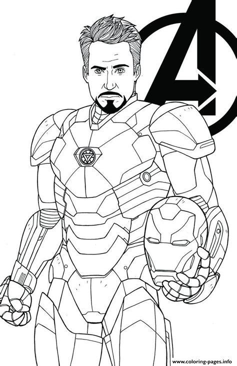 avengers endgame iron man tony stark coloring pages printable