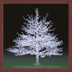 artificial white outdoor lighted trees landscape led tree light tree for festival