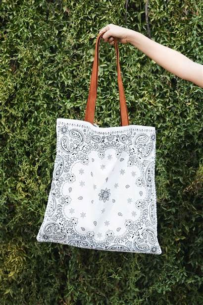 Bandana Diy Bag Leather Straps Bags Reversible
