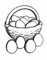 Egg Chicken Coloring Pages Basket Drawing Put Netart Getdrawings Place sketch template