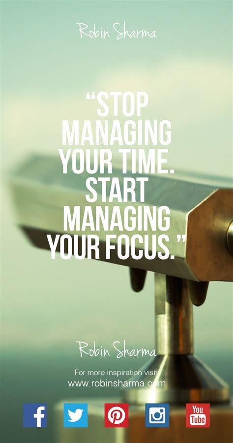 stop managing  time start managing  focus