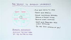Leadership Styles Chart The Secret To Authentic Leadership Projectmanager Com