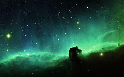 mj horse head blue nebula sky space stars papersco