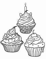 Coloring Cupcake Cupcakes Printable Colorir Desenhos Sheets Drawing Adult Addison Malvorlagen Colouring Ausmalbilder Kostenlose Ausmalen Ice Cream Printables Arte Vorlagen sketch template