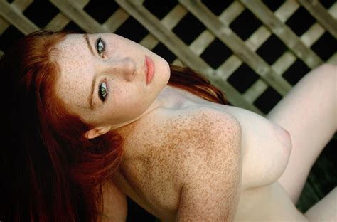 Nude Freckled Redhead