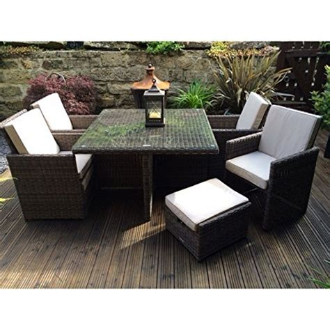 radeway 174 outdoor wicker dining set w cushions