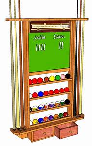 Pool Cue Storage Rack #061 3D Woodworking Plans