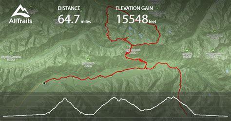 hoh trail washington glacier basin lakes rainforest river map alltrails