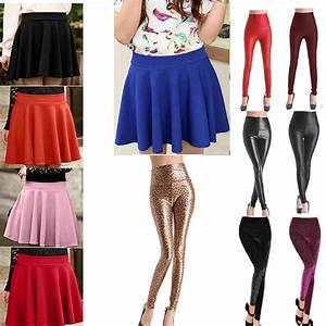 Denim Mini Skirt With Leggings 2014-2015 | Fashion Trends 2016-2017
