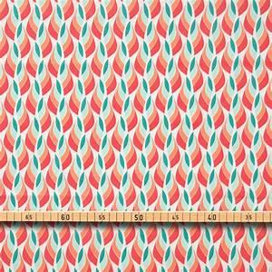 Grün Auf Englisch : baumwolle popeline muster retro orange gr n auf wei ~ Orissabook.com Haus und Dekorationen