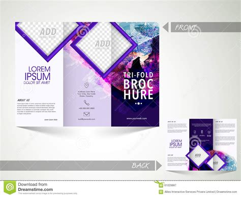 4 sided brochure template one sided brochure template 4 best agenda templates