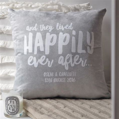 personalised cusion happily after cushion couples cushion