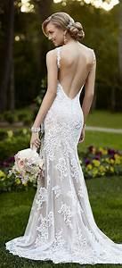 60 perfect low back wedding dresses wedding dress lace for Lace backless wedding dress