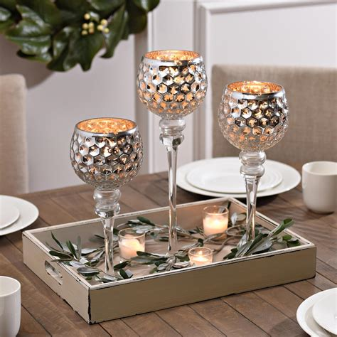 dining table centerpiece 100 dining table candle silver honeycomb charismas set of 3 honeycombs