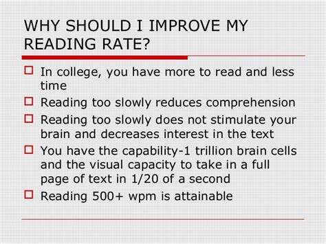 Improve Your Reading Rate And Comprehension (1