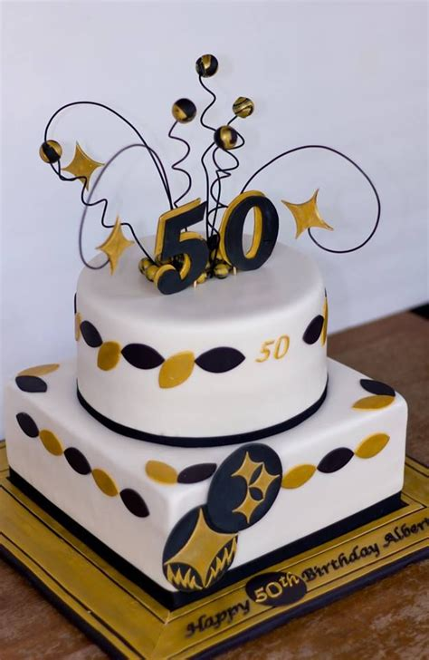 Black And Gold 50th Birthday Cake Him Email Facebook Google Twitter Related Galleries