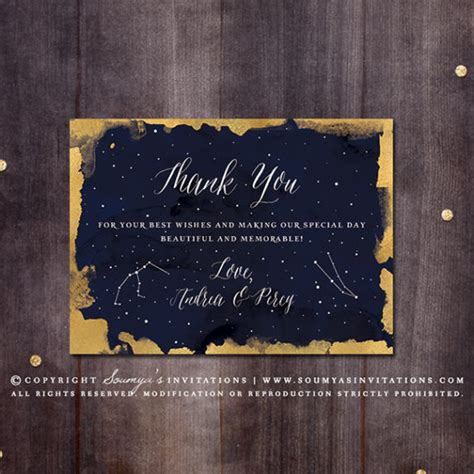 constellation wedding invitation gold  navy wedding