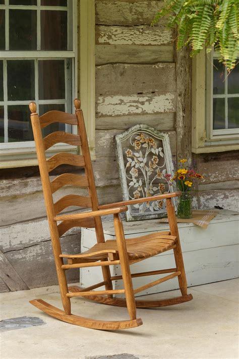 ash ladderback porch rocking chair  dutchcrafters
