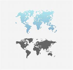 Gray world map design vector - Vector Maps free download