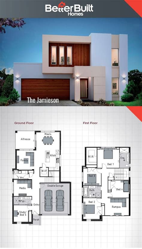double story house designs  storey floor plan