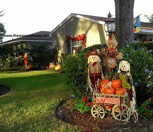 fall has fell in the front yard the seasonal home With how to decorate front yard for thanksgiving
