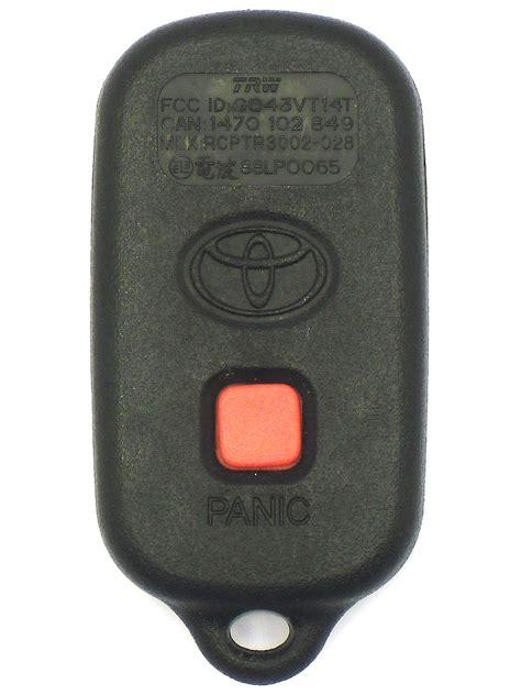 toyota keyless entry remote  button   toyota