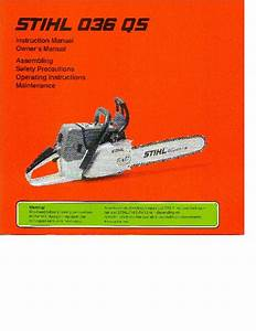 Stihl 036 Qs Chainsaw Owners Manual