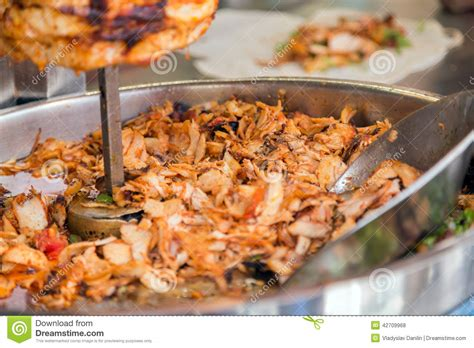 cuisine kebab food doner kebab in the restaurant stock photo