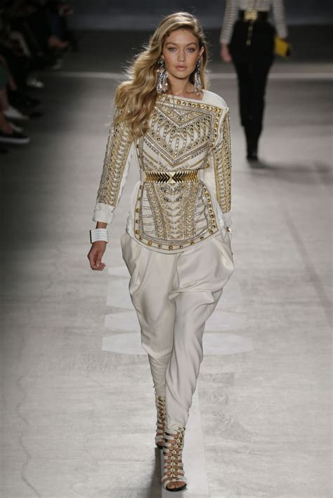 balmain  hm fashion gigi hadid couture mode
