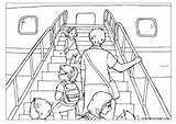 Colouring Boarding Airplane Summer Pages Holidays Transport Coloring Activityvillage sketch template