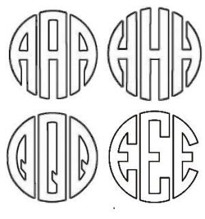 monogram maker customize  instant