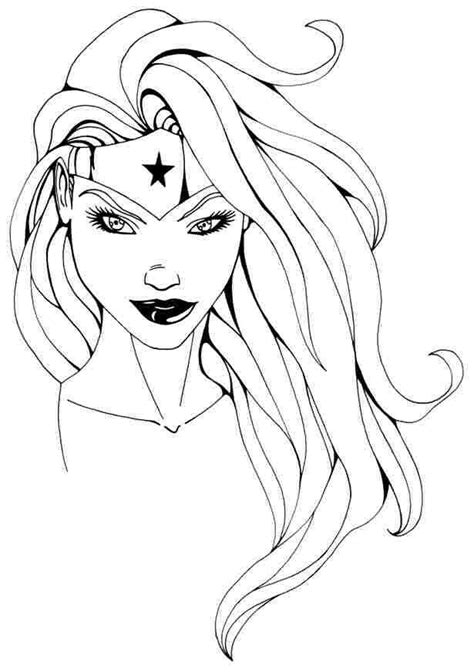 woman kid fun krafts superhero coloring pages