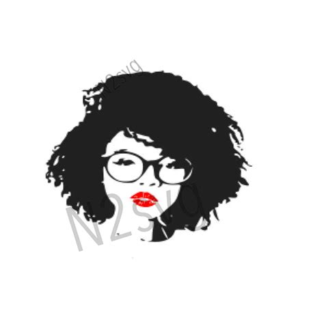 A lot of free vector art and graphics ideal for your designs. afro lady with glasses svg . Digital file svg