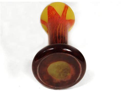 grand vase p 226 te de verre le verre fran 231 ais schneider feuilles d 233 co xx 232