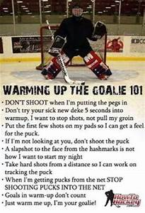 Funny Hockey Go... Funny Hockey Goalie Quotes