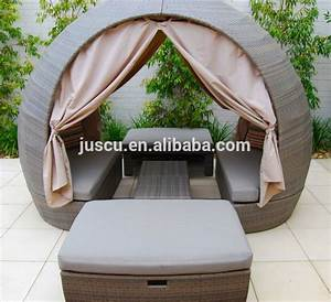 Rattan Lounge Rund : rattan round outdoor lounge bed outdoor furniture daybed round daybed with canopy outdoor ~ Indierocktalk.com Haus und Dekorationen