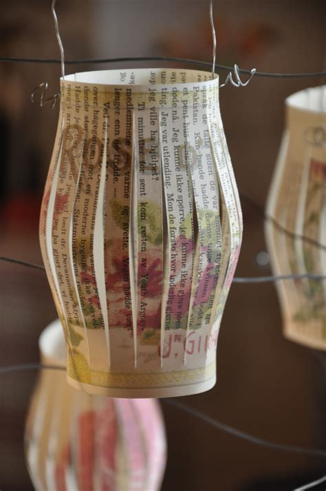 diy  book crafts   rose lanterns wings  whimsy