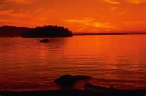 Cartoon Beautiful Sunset