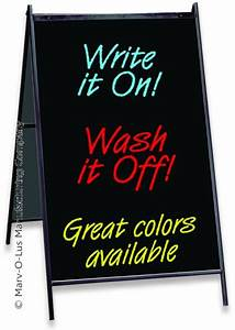 Eraseable message board a frame with 24quot x 36quot black sign for Changeable letter sign panels