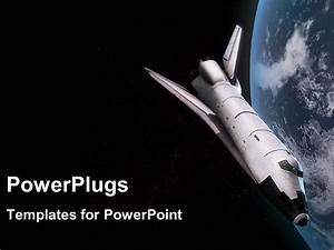 PowerPoint Template: Space shuttle in orbit around the ...